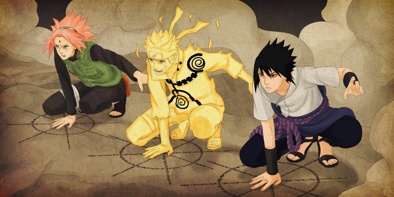Gambar Naruto Sasuke Dan Sakura Tim 7 Gambar Kata Kata