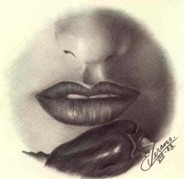 Рисунки карандашом. Elia Verano 6