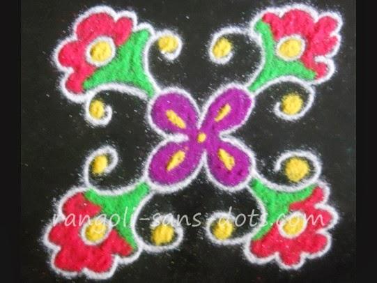 Small Rangoli With Dots Kolam By Sudha Balaji