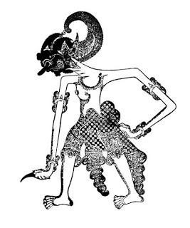 Wayang purwa yang terbuat dari kulit kerbau, kemudian disungging dengan warna yang mencerminkan perlambang karakter dari tokoh wayang. Wayang Lan Jenenge