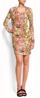 vestido estampado de mango