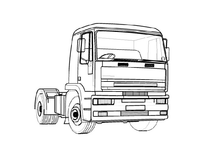 Truck Coloring Pages To Print (12 Image)