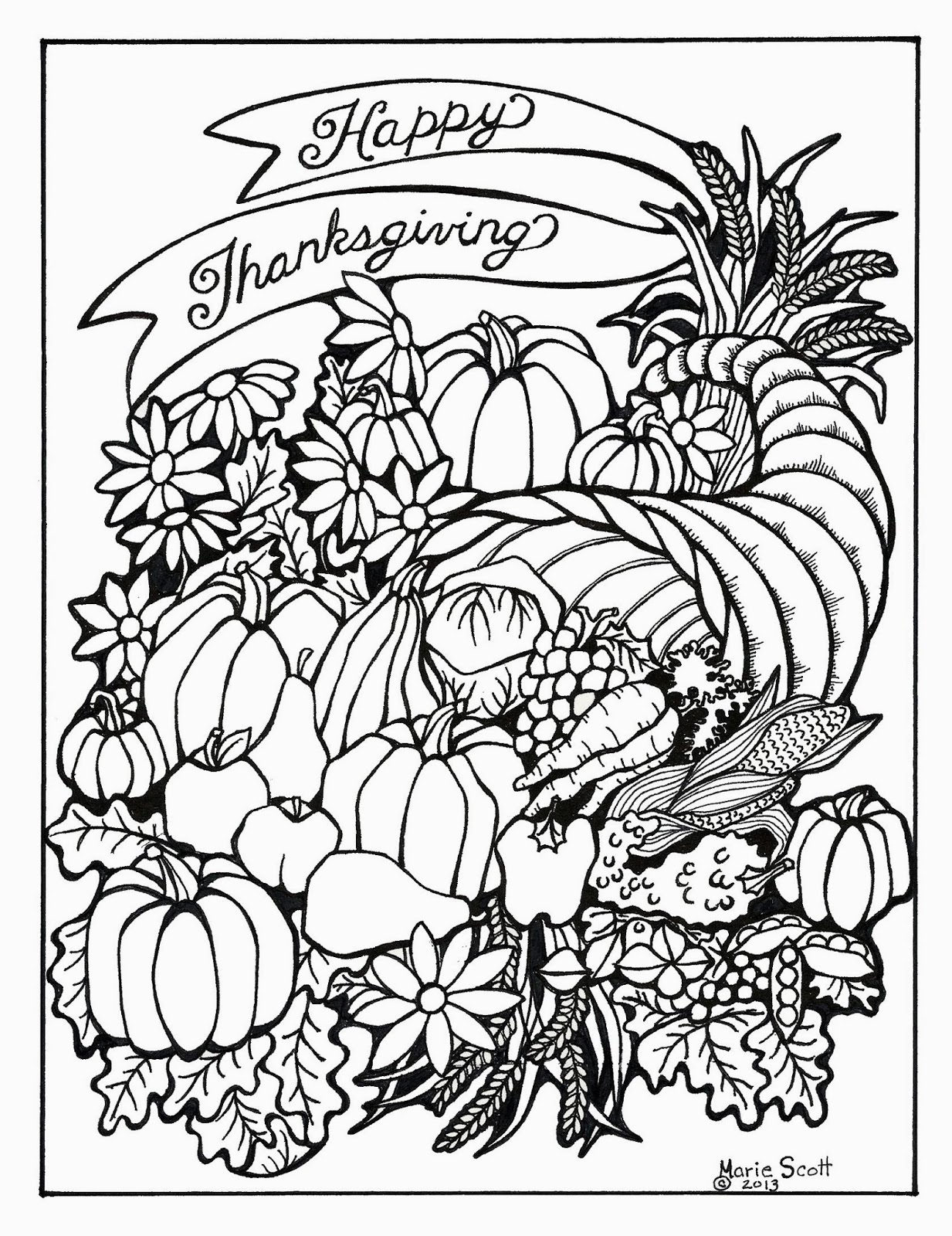 It is an image of Genius adult coloring pages thanksgiving