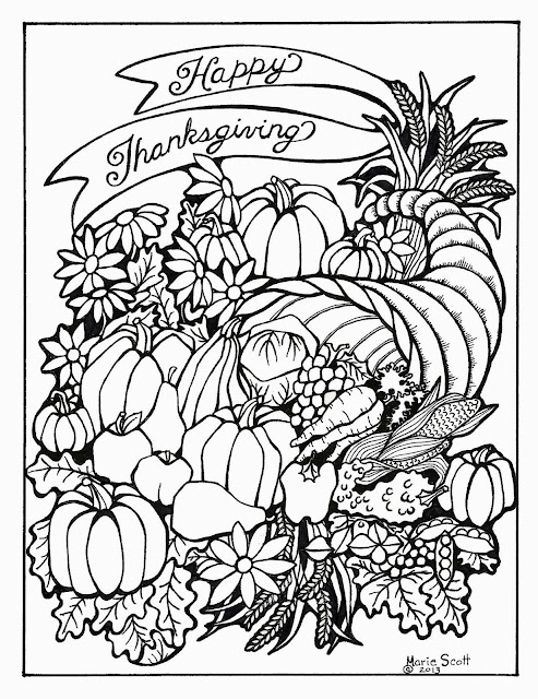 Serendipity Hollow: Thanksgiving Coloring Book Pages