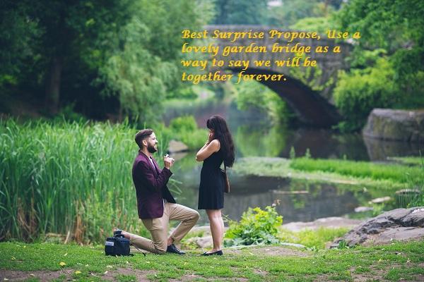 Romantic propose couple