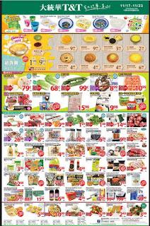 T&T Supermarket Flyer November 17 - 23, 2017
