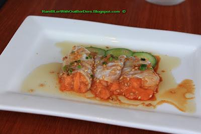 White fish with uni (sea urchin), Nobu restaurant, KL, Malaysia