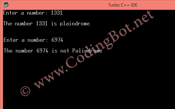 Palindrome Number C Code