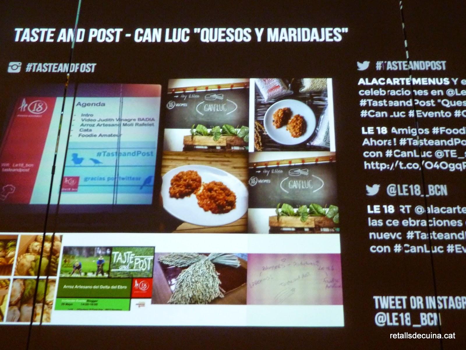 TasteAndPost Formatges i Maridatges amb Can Luc
