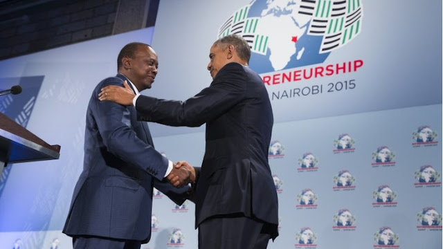 Barack Obama and Uhuru Kenyata