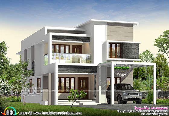 1146 square feet flat roof home design