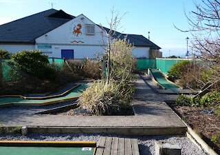 Crazy Golf course at the Lake District Coast Aquarium in Maryport