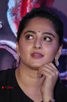 Actress Anushka Shetty Stills in Black Gurthi at Baahubali 2 Press Meet  0001.jpg