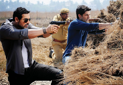 John Abraham with Gun in Force Shooting HD  Wallpaper