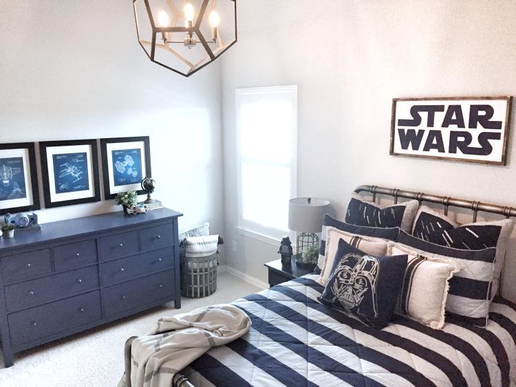Dormitorio juvenil chico star wars