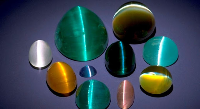 Cat's Eye Effect Observed in Some Minerals