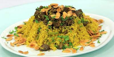 ارز بالكركم و الكبد و القوانص