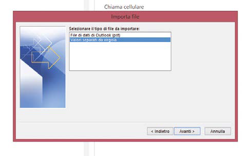 Tutto in una colonna contatti gmail in outlook