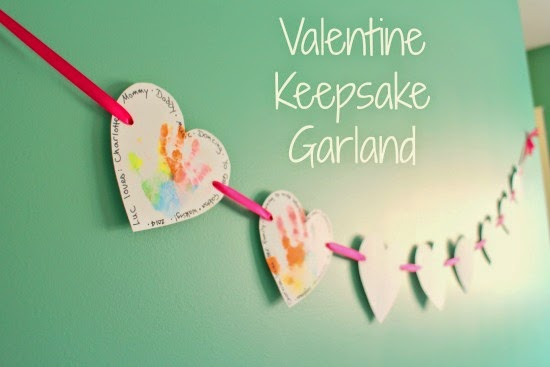 Adorable - and super easy - Keepsake Valentine Garland! Such a good idea to save those memories!