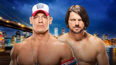 John Cena AJ Styles Summerslam 2016 WWE