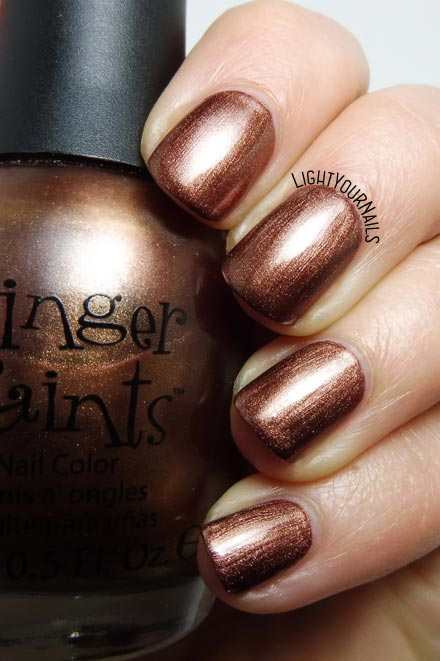 Smalto color bronzo Finger Paints Artist's Inspiration bronze nail polish #unghie #nails #fingerpaints