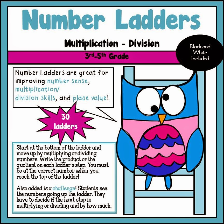 Number Ladders Multiplication and Division
