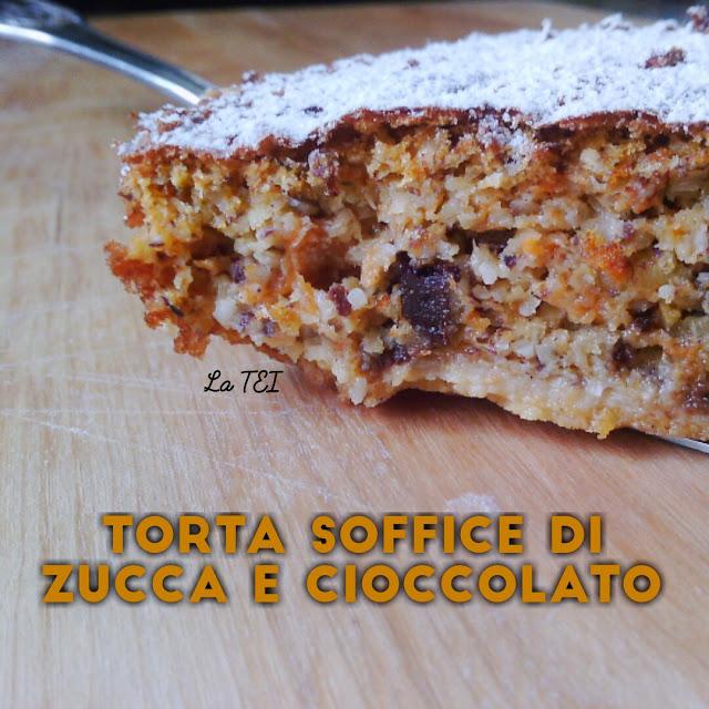 Torta soffice di zucca e cioccolato