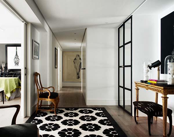 Studio Sofas Chaises Corner Sofa Navy Blue Noir Blanc Un Style