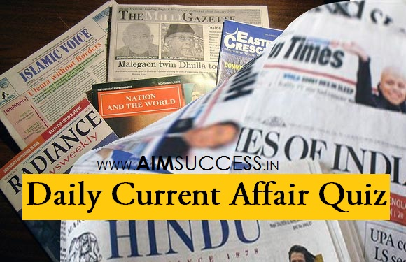 Daily Current Affairs Quiz: 26 May 2018