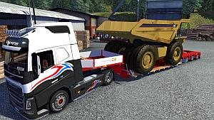 Doll Vario trailer with Caterpillar 257M as cargo