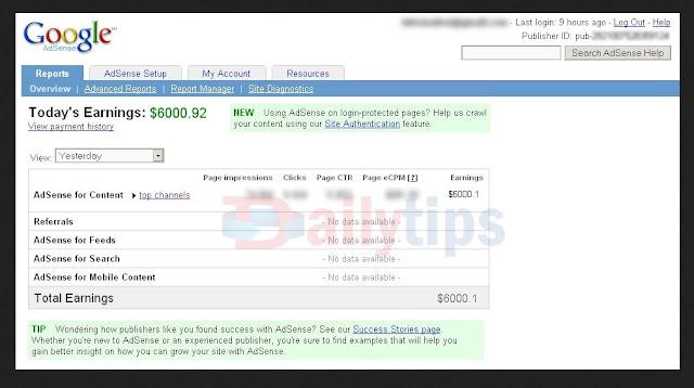 Inilah Rahasia Cara Mudah Buat $600 Dollar Per Hari dari Adsense