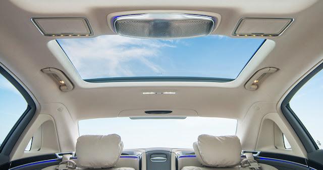 Mercedes Maybach S500 2017 trang bị cửa sổ trời siêu rộng Panoramic có thể đổi màu kính