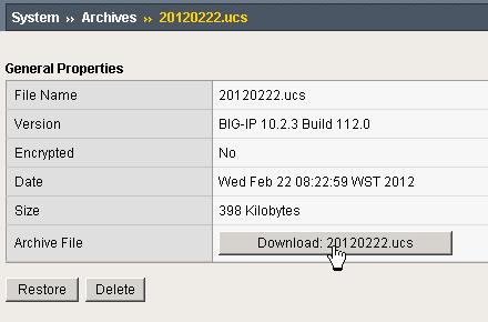 Steve's IT Blog: How to View an F5 ucs file in windows