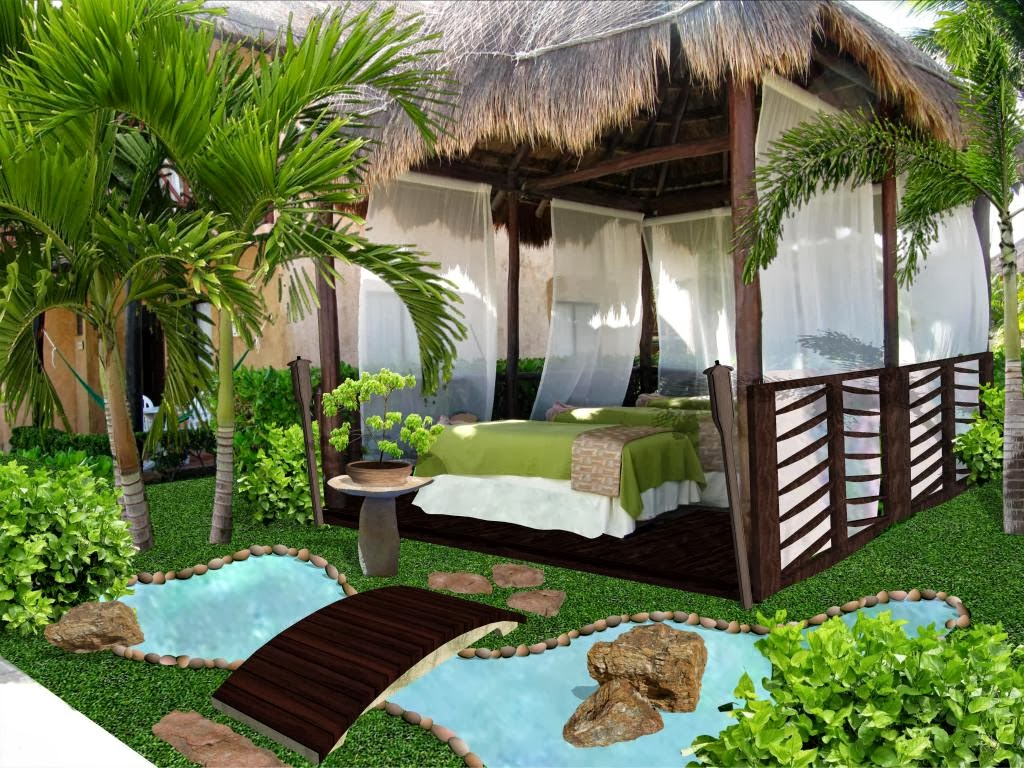 Dise o de jardines peque os palapa de masage y spa hotel for Diseno de jardines pequenos fotos