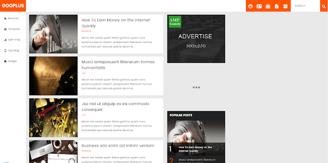 Gooplus Valid AMP Responsive Blogger Templates