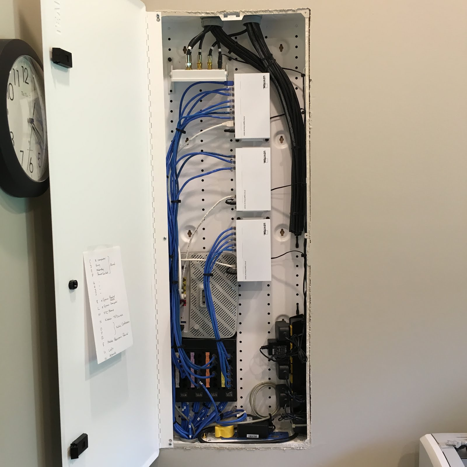 W4UOA: Reworked structured wiring panel on