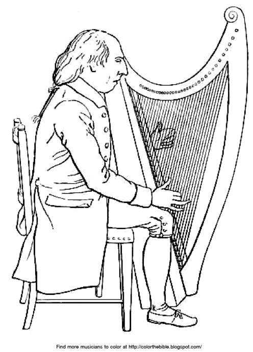 harp coloring pages - photo#27