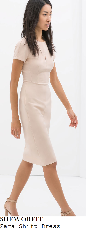 claire-richards-zara-nude-cream-pink-tailored-pencil-dress