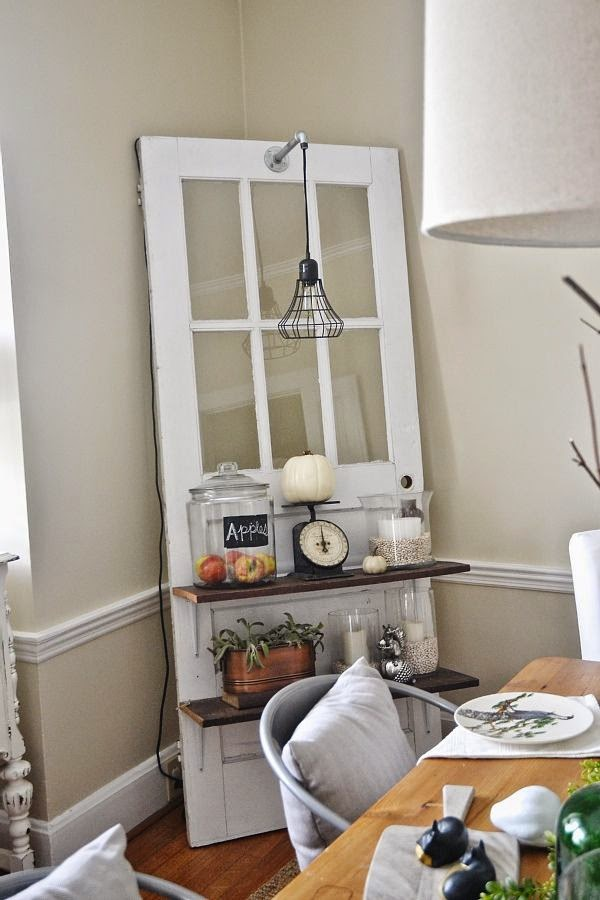little brags decorating with old doors