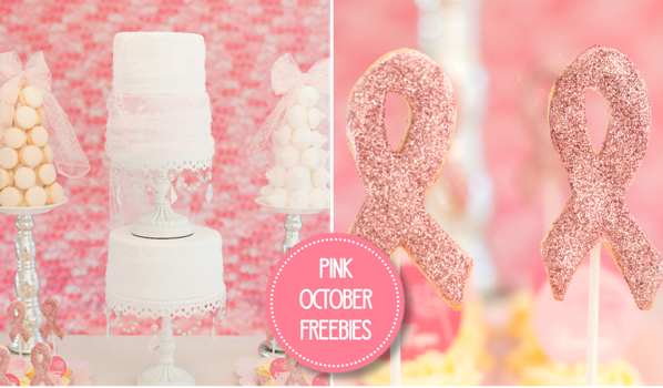 Pink October Free Party Printables - BirdsParty.com