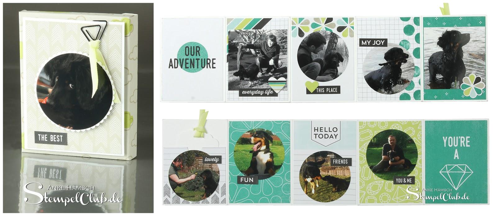 Projekt 1 für die Sternfahrt Dresden - Minialbum mit dem Kartenset Erinnerungen & mehr von Stampin' Up!,