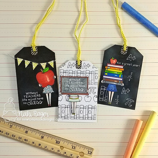Teacher Tags by Naki Rager | Classy Teachers Stamp Set by Newton's Nook Designs #newtonsnook #handmade #teachercards