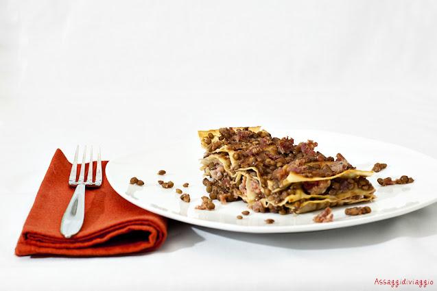 Lasagna di lenticchie e cotechino