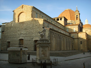The Basilica di San Lorenzo in Florence, to which are attached the Medici family chapels