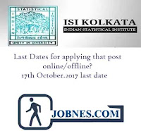 Indian Statistical Institute Recruitment 2017 for various posts  apply online here