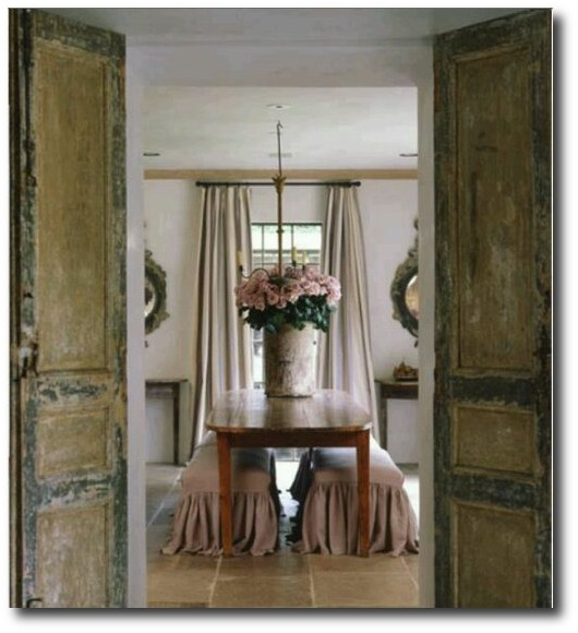 image result for beautiful French farmhouse Swedish dining room by Pam Pierce