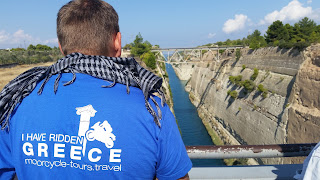 Greece motorbike tours, Corinth Canal