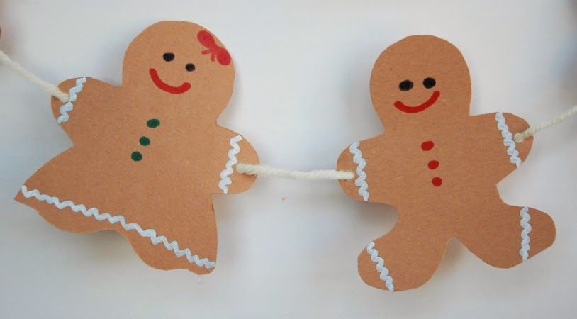 gingerbread girl and boy for craft