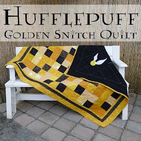 Harry Potter Hufflepuff Golden Snitch Quilt