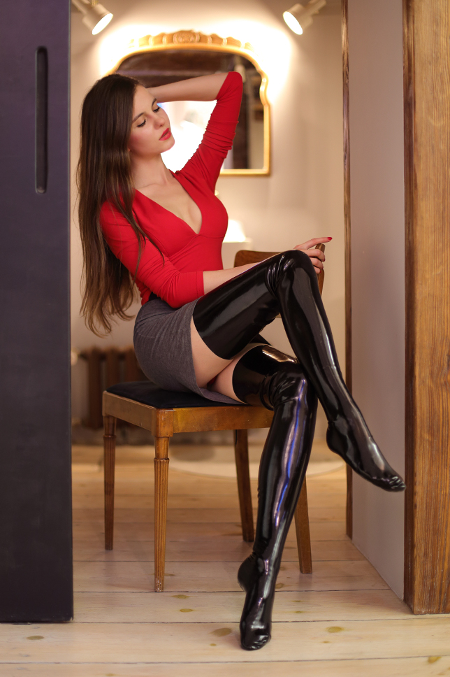 latex%2Bstockings%2Bskirt%2Bred%2Btop%2B